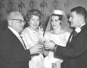 Ernest, Auguste, Harriet and Bill Mohr at the wedding