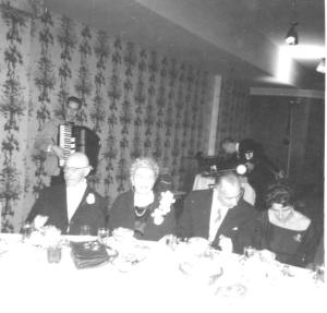 (l to r)  Lothar and Sophie Midas, Harry and Elsbeth Weilheimer at Bill and Harriet's wedding