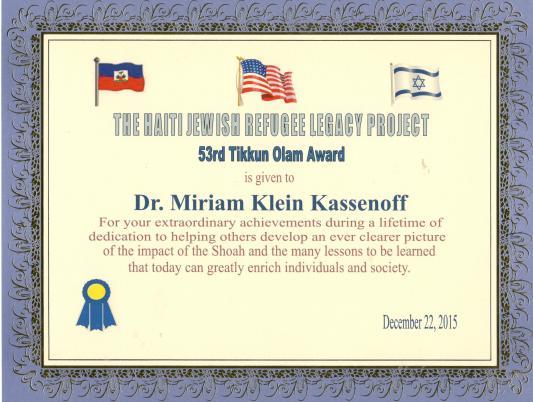 Tikkun Olam Award 53