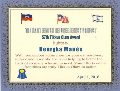 Tikkun Olam Award 57